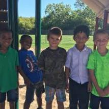 RUSD students on playground