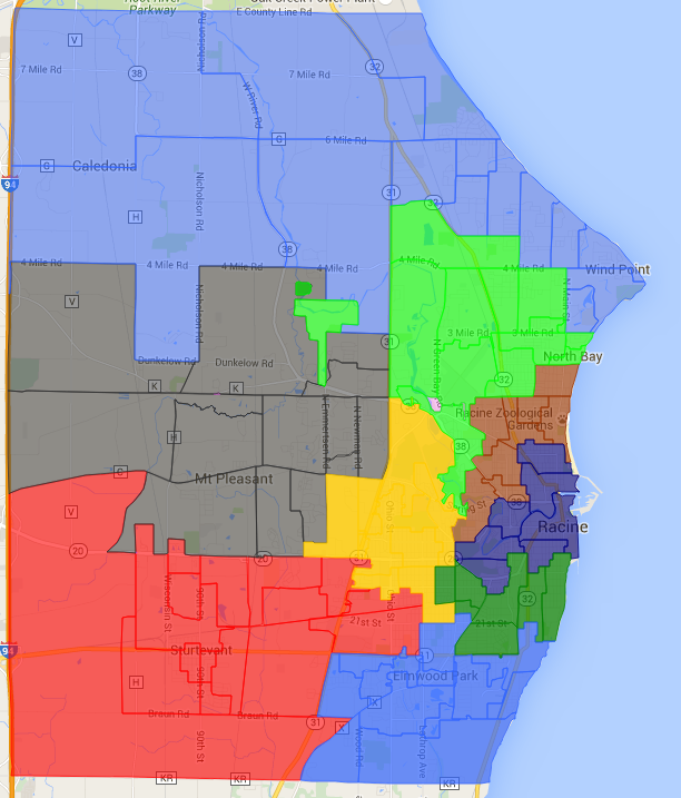 Click for detailed election district map