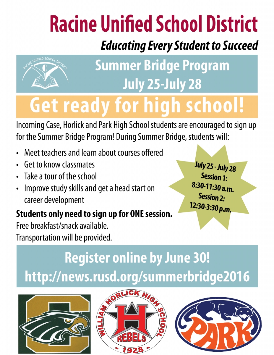 Attention Incoming Freshmen Sign Up For Summer Bridge