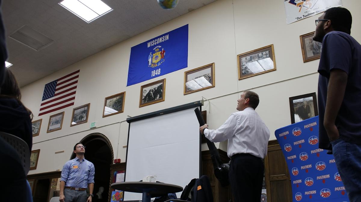 WISN-TV Weather Team Visits Park High School Science Class
